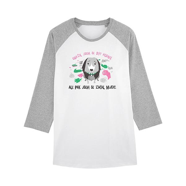 Dogsie baseballové tričko s 34 rukávem zepředu