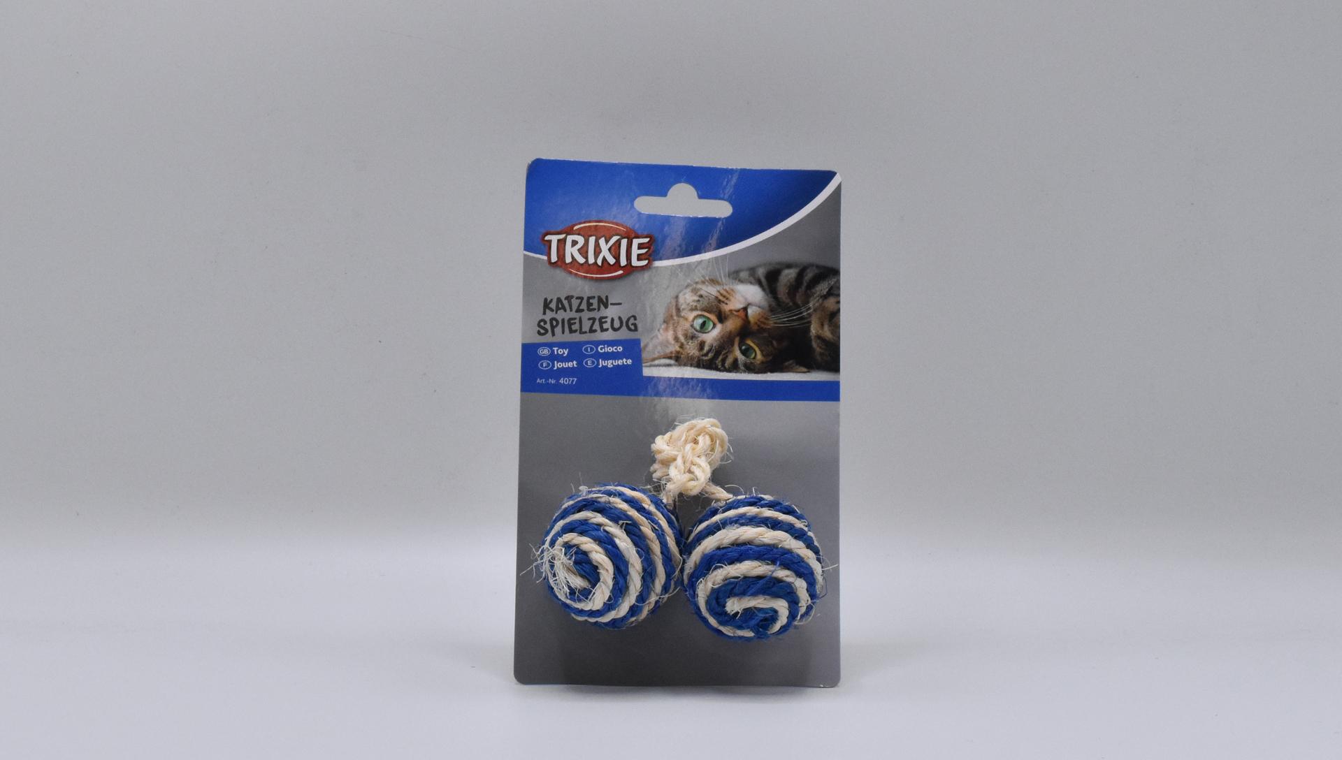 Trixie sisalové míčky se šantou kočičí