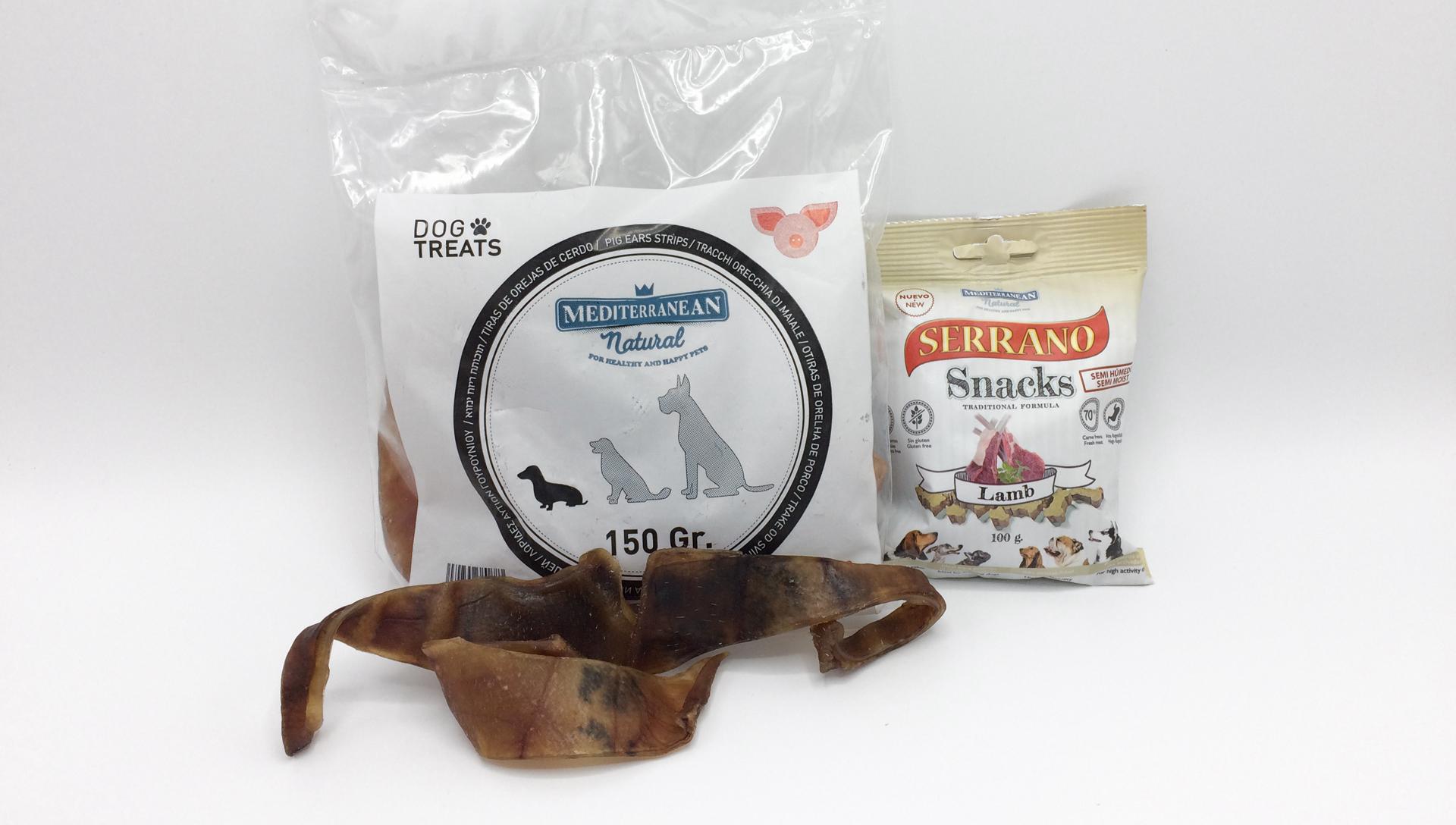 Mediterranean vepřové uši a Serrano Snack