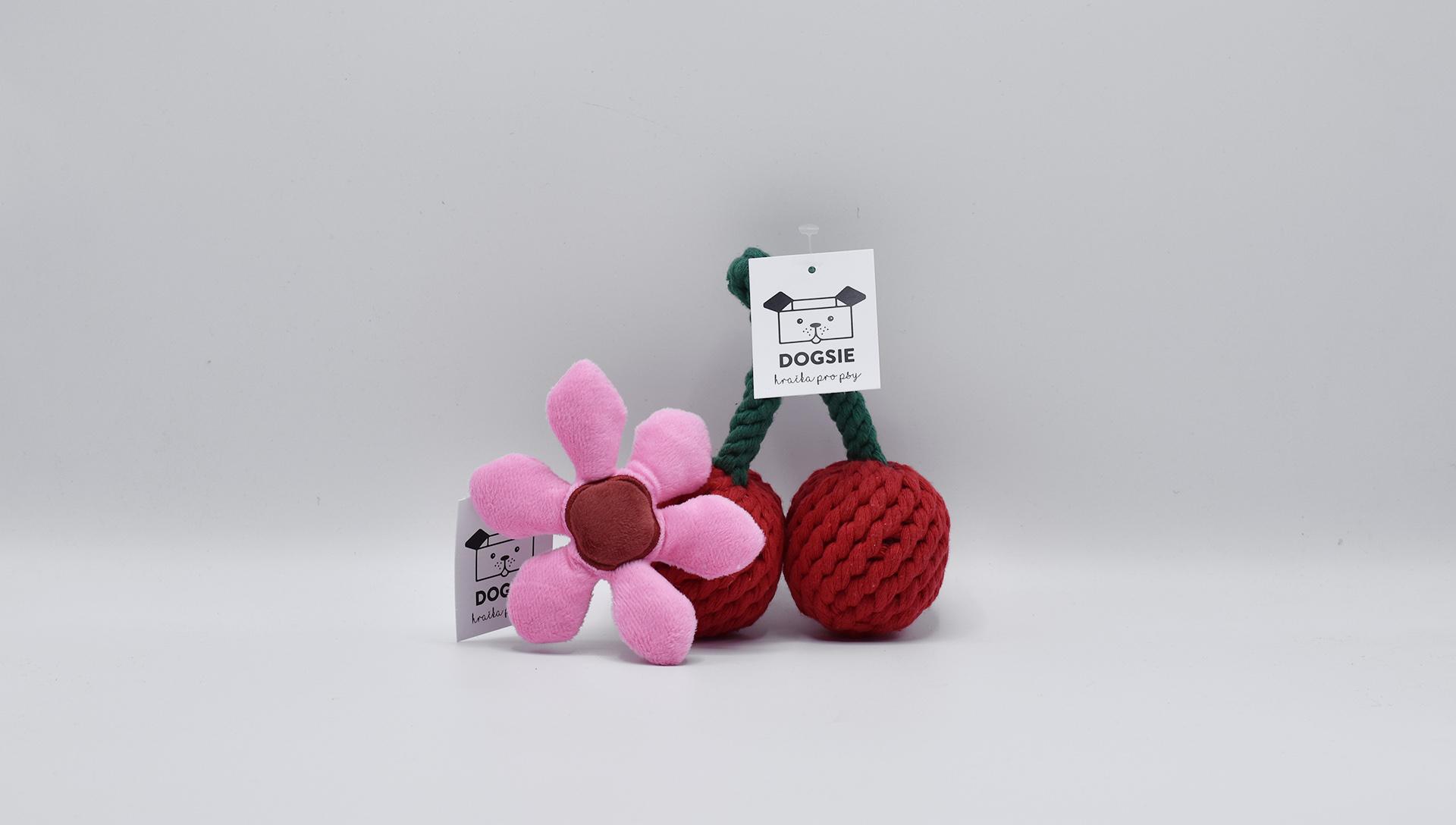 hračky Dogsie třešeň a květ