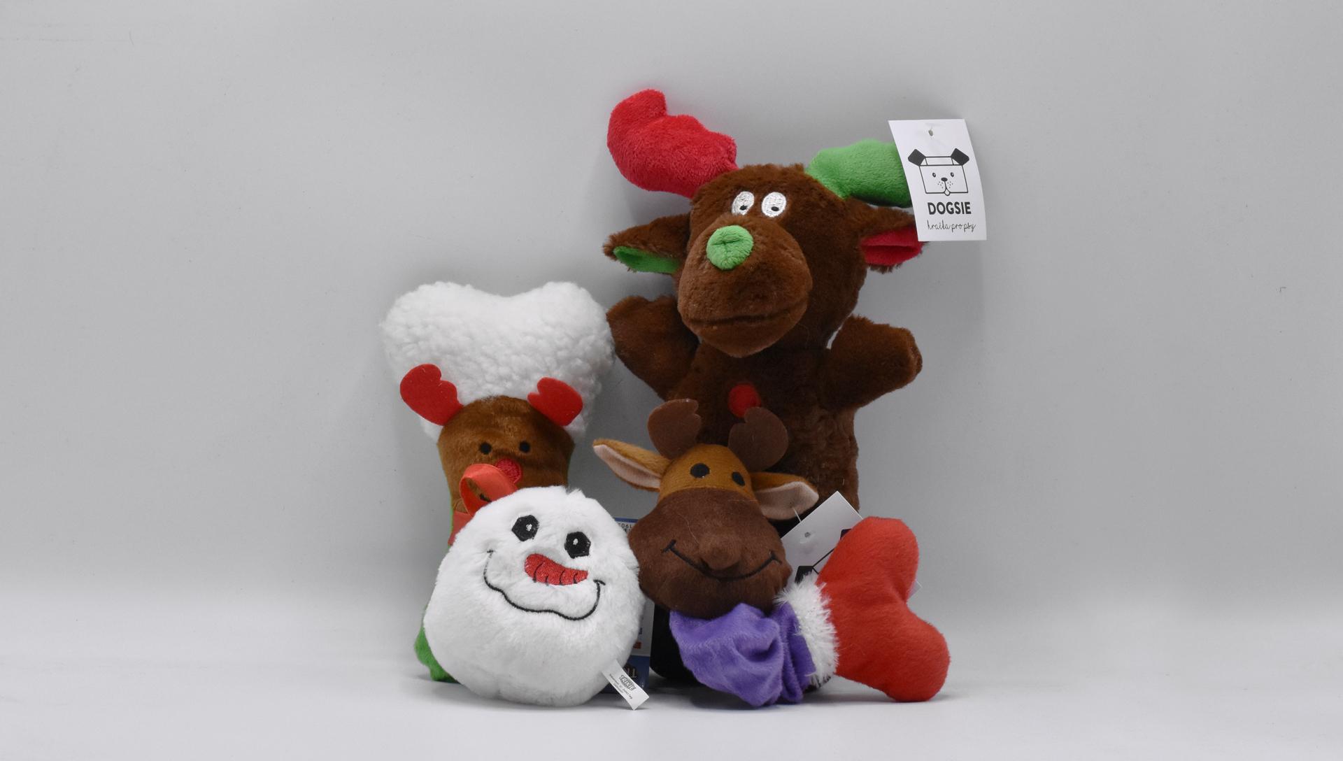 vánoční hračky pro psy